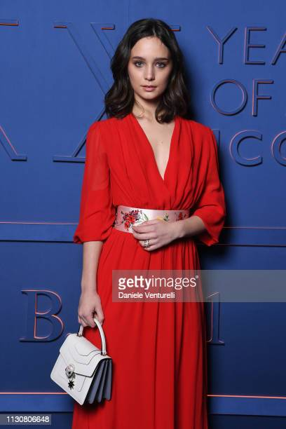 Denise Tantucci attends the Bvlgari BZERO1 XX Anniversary Global Launch Event at Auditorium Parco Della Musica on February 19 2019 in Rome Italy