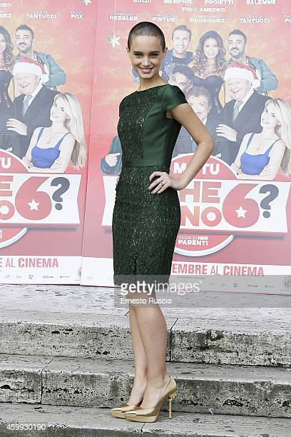 Denise Tantucci attends the 'Ma Tu Di Che Segno 6' photocall at The Space Moderno on December 4 2014 in Rome Italy