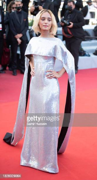 """Denise Tantucci attends the """"Tre Piani """" screening during the 74th annual Cannes Film Festival on July 11, 2021 in Cannes, France."""