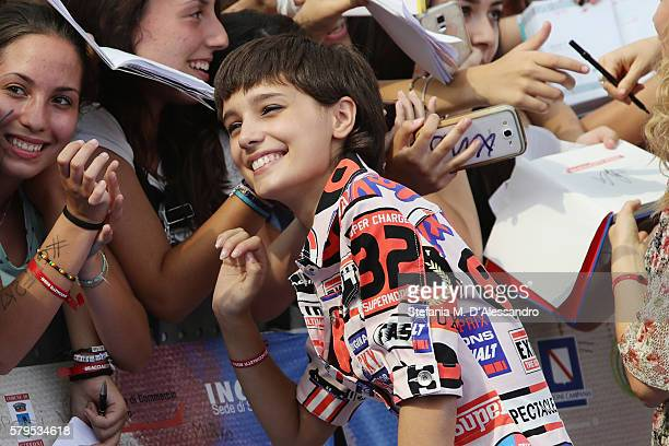 Denise Tantucci of the Braccialetti Rossi cast attends the Giffoni Film Festival Day 10 photocall on July 24 2016 in Giffoni Valle Piana Italy