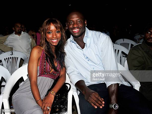 Denise Tarver and boxer Antonio Tarver attend the 2009 Bermuda Music Festival at the Royal Naval Dockyard on October 29 2009 in Sandys Parish Bermuda
