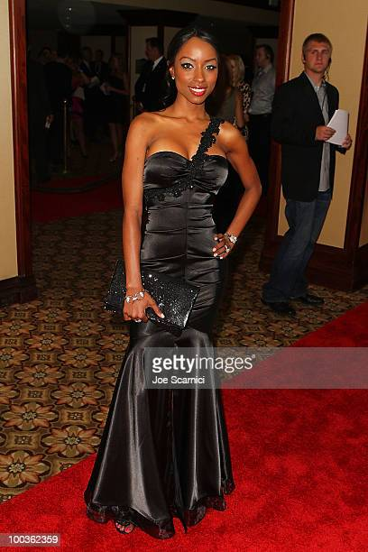Denise Tarver arrives to the 25th Anniversary Of CedarsSinai Sports Spectacular at Hyatt Regency Century Plaza on May 23 2010 in Century City...