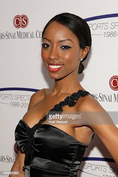 Denise Tarver attends the 25th anniversary of CedarsSinai Sports Spectacular Hyatt Regency Century Plaza on May 23 2010 in Century City California
