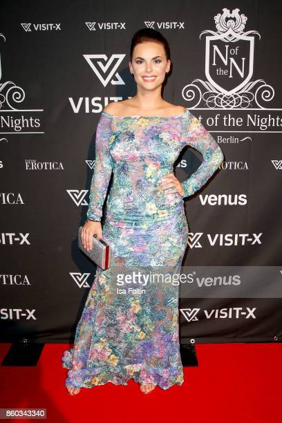 Denise Temlitz former candidate of the TV show 'Der Bachelor' attends the 'Nights of The Nights' event at Amano Grand Central on October 11 2017 in...
