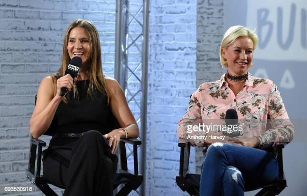 Denise Van Outen and Amanda Byram at the Build LDN event at AOL London on June 7 2017 in London England
