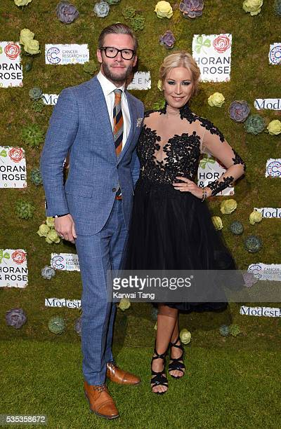 Denise van Outen and Eddie Boxshall arrive for The Horan And Rose event at The Grove on May 29 2016 in Watford England