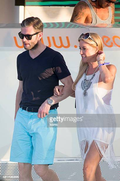 Denise Van Outen and Eddie Boxshall is seen on July 21 2015 in Ibiza Spain