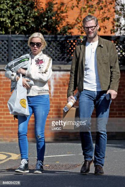 Denise Van Outen and Eddie Boxshall seen out shopping together in Hampstead on September 12 2017 in London England