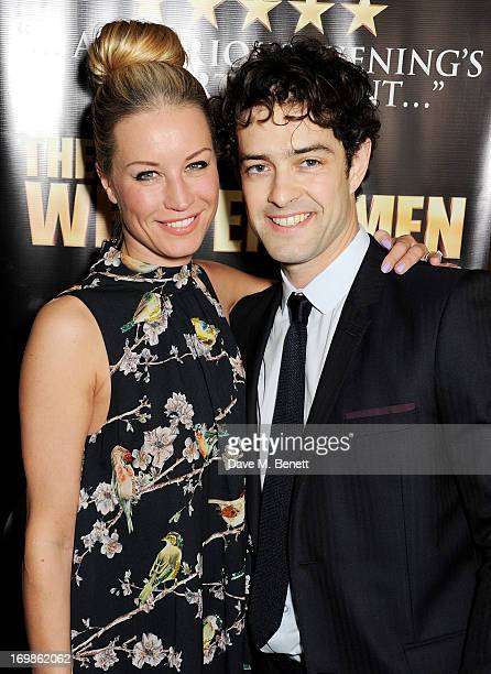 Denise van Outen and Lee Mead attend an after party following the press night performance of 'The West End Men' at Adam Street private members club...