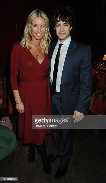 Denise Van Outen and Lee Mead attend The Old Vic Christmas Cracker in partnership with the Charities Trust in aid of The Old Vic Theatre Trust at...