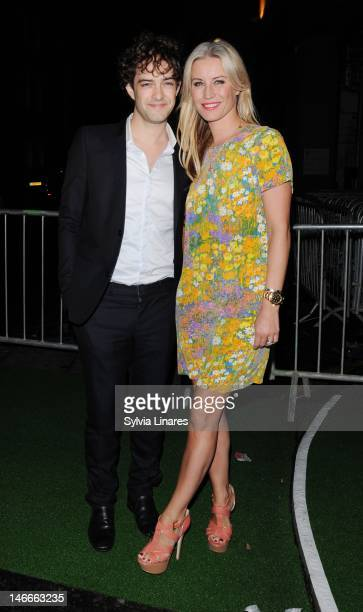Denise Van Outen and Lee Mead leaving The PreWimbledon Party held at The Roof Gardens on June 21 2012 in London England