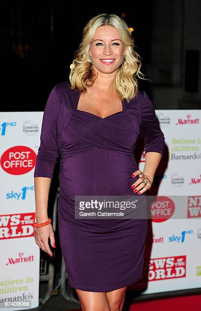 Denise Van Outen arrives at the Children's Champions 2010 Awards at the Grosvenor House Hotel on March 3 2010 in London England