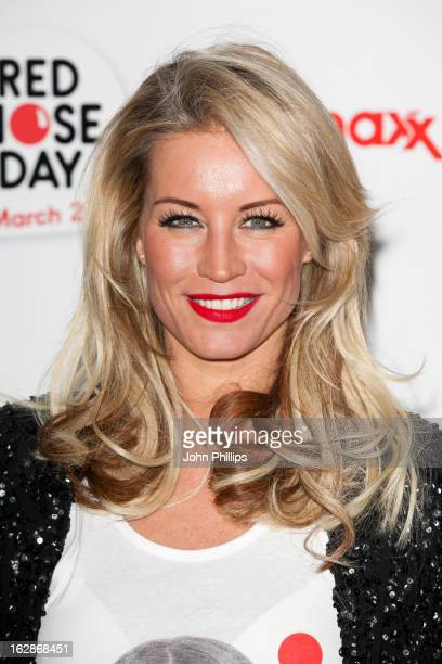 Denise Van Outen attends a fundraising cocktail party hosted by TK Maxx in aid of Comic Relief's Red Nose Day at The Royal Opera House on February 28...