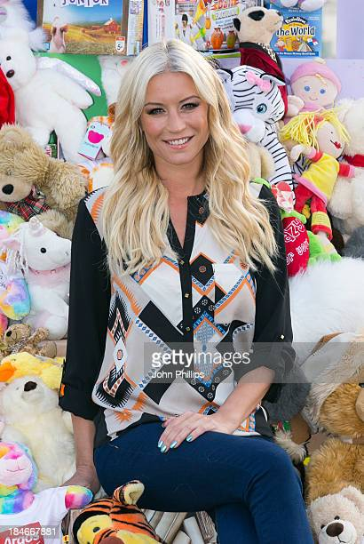 Denise van Outen attends a photocall to launch the annual Argos Toy Exchange at Coq d'Argent on October 15 2013 in London England