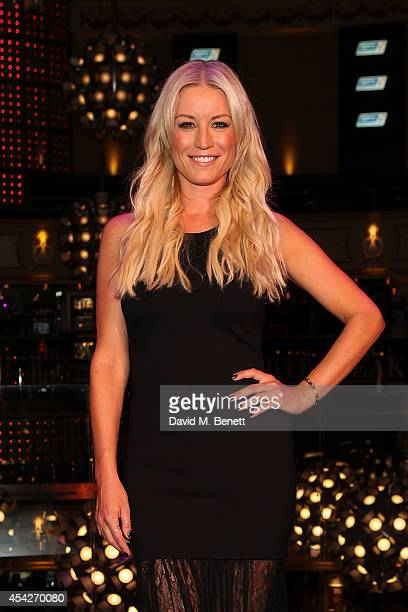 Denise Van Outen attends an after party celebrating the press night performance of 'Some Girl I Used To Know' at the Hippodrome Casino on August 27...