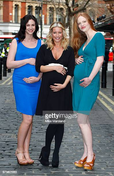 Denise Van Outen attends photocall to launch her new maternity range for Very.co.uk at Soho House on March 23, 2010 in London, England.