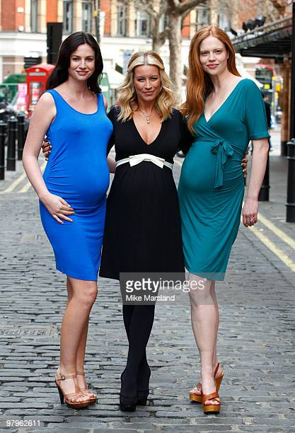 Denise Van Outen attends photocall to launch her new maternity range for Verycouk at Soho House on March 23 2010 in London England