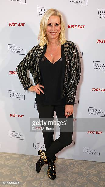 Denise Van Outen attends the annual British Takeaway Awards in association with Just Eat at the Savoy Hotel in London The Annual awards are held to...