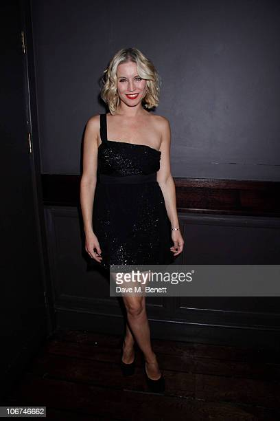 Denise Van Outen attends the cast change party for Legally Blonde at the Opal Bar on November 10 2010 in LondonEngland