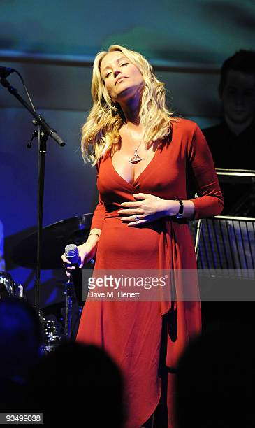 Denise Van Outen attends The Old Vic Christmas Cracker in partnership with the 'Charities Trust' in aid of The Old Vic Theatre Trust at Sketch Club...