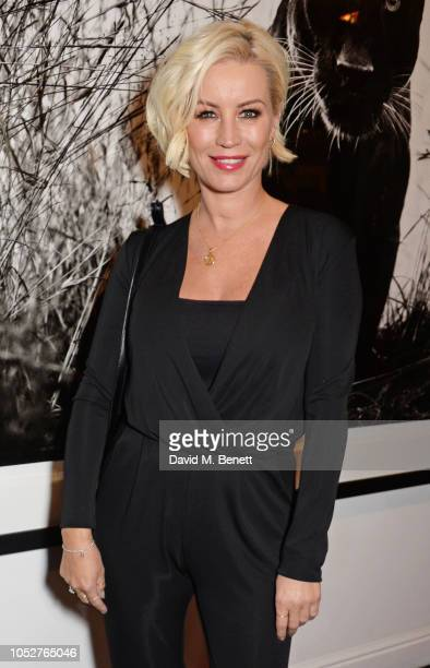Denise van Outen attends the TAG Heuer auction featuring unseen art work from the Don't Crack Under Pressure Campaign in association with Cara...