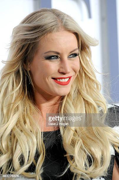 Denise Van Outen attends the UK Premiere of 'Fifty Shades Of Grey' at Odeon Leicester Square on February 12 2015 in London England