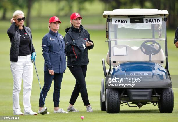 Denise van Outen Dolly Maude and Zara Phillips attend the 5th edition of the 'ISPS Handa Mike Tindall Celebrity Golf Classic' at The Belfry on May 19...