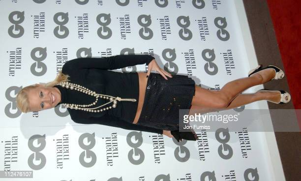 Denise Van Outen during 2005 GQ Men of the Year Awards Inside Arrivals at Royal Opera House in London Great Britain
