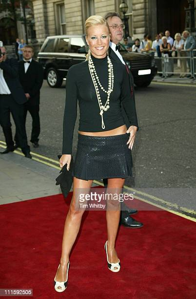 Denise Van Outen during 2005 GQ Men of the Year Awards Outside Arrivals at Royal Opera House in London Great Britain