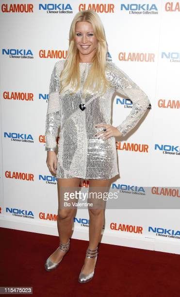 Denise Van Outen during 4th Annual Glamour Women Of The Year Awards Arrivals at Berkeley Square Gardens in London Great Britain