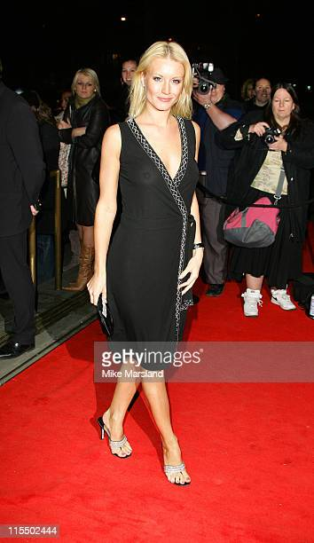 Denise Van Outen during British Fashion Awards 2004 Arrivals at Victoria and Albert Museum in London Great Britain