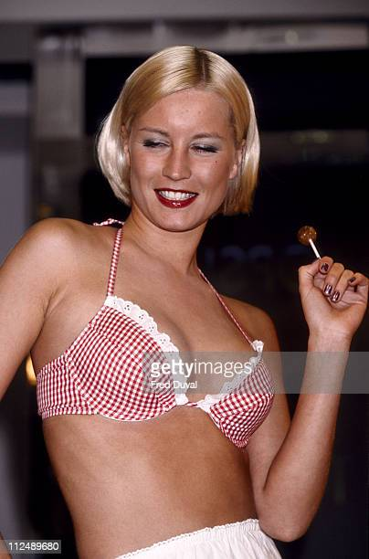 Denise Van Outen during Denise Van Outen Launches Bikini Line at Topshop in London Great Britain