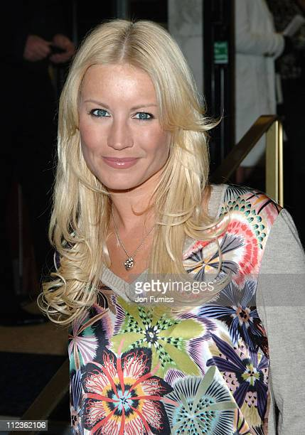 Denise Van Outen during George Michael's A Different Story Gala London Screening Inside at Curzon Mayfair in London Great Britain