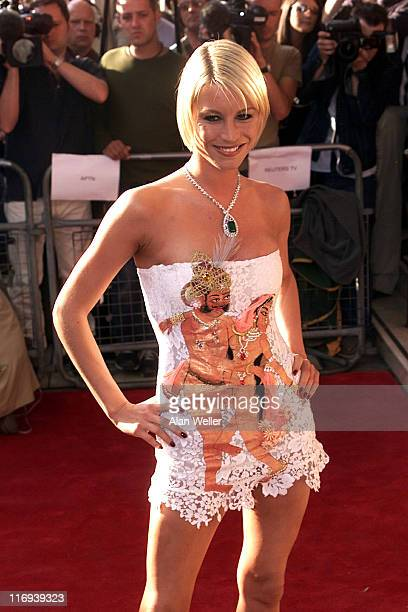 Denise van Outen during Opening Night of 'Bombay Dreams' at Apollo Victoria Theatre in London Great Britain