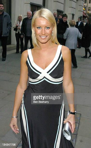 Denise Van Outen during 'Romeo and Juliet 'Ballet Arrivals at Royal Opera House Covent Garden in London Great Britain