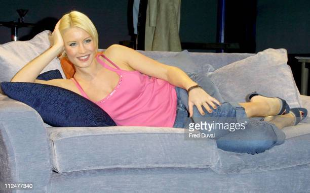 Denise Van Outen during Tell Me On A Sunday Photocall at West End in London Great Britain