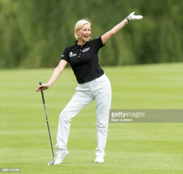 Denise Van Outen during the Mike Tindall Celebrity Golf Classic at The Belfry on May 19 2017 in Sutton Coldfield England