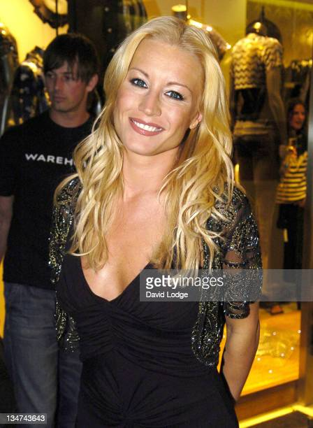 Denise Van Outen during Warehouse Store ReLaunch Party September 28 2005 at Argyll Street in London Great Britain