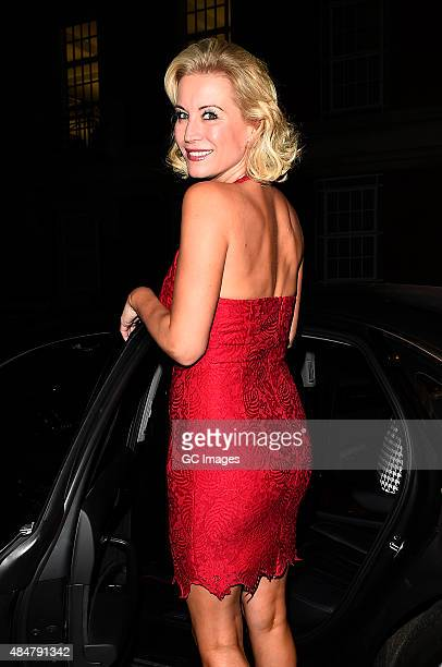 Denise Van Outen leaves The Cadogan Theatre after her latest performance in hit musical Sweet Charity on August 21 2015 in London England
