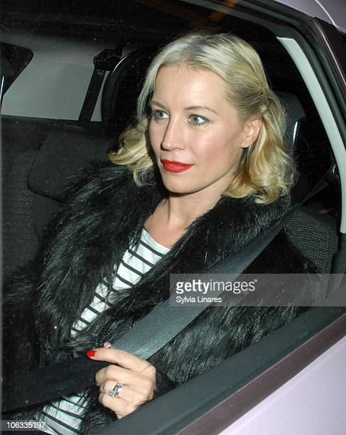 Denise van Outen leaving Savoy Theatre on October 28 2010 in London England