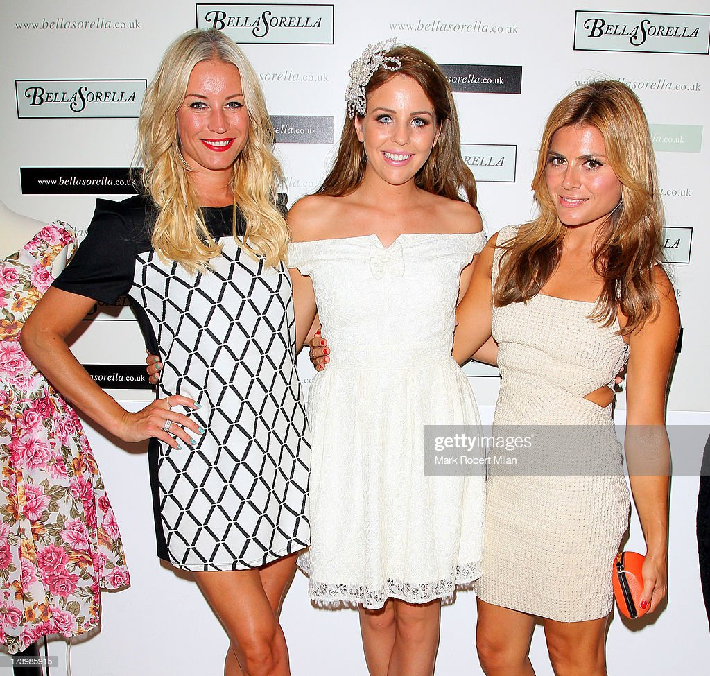 Denise van Outen, Lydia Bright and Zoe Hardman attending the Lydia Bright x FASHTAG pop-up tour launch on July 18, 2013 in London, England.
