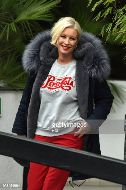 Denise Van Outen seen at the ITV Studios on February 23 2018 in London England