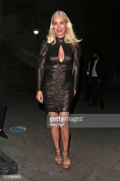 Denise van Outen seen leaving Proud Enbankment after her performance on Cabaret All Stars show on September 12 2020 in London England
