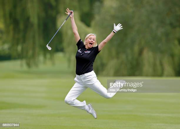 Denise van Outen takes part in the 5th edition of the 'ISPS Handa Mike Tindall Celebrity Golf Classic' at The Belfry on May 19 2017 in Sutton...