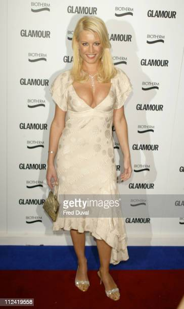 Denise van Outen wins Best Theatre Actress during Glamour Women Of The Year Awards 2004 Arrivals at Berkley Square in London Great Britain