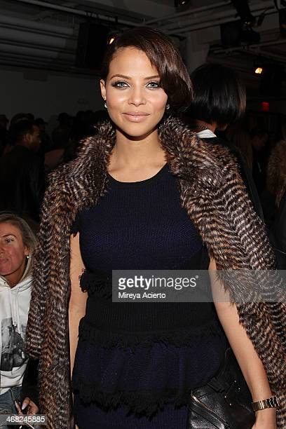 Denise Vasi attends the Public School fashion show during MADE Fashion Week Fall 2014 at Milk Studios on February 9 2014 in New York City