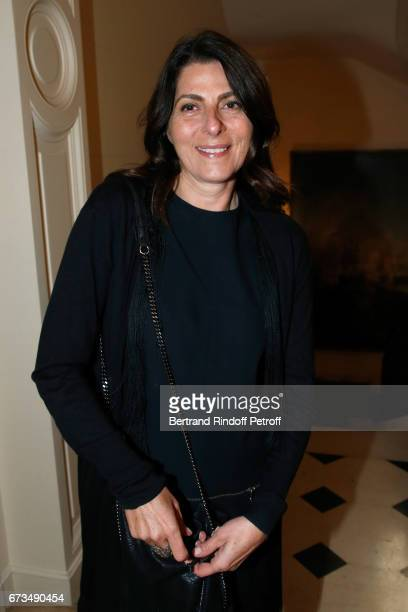 Denise Vilgrain attends the presentation of the Book 'Scenes De Crime au Louvre' written by Christos Markogiannakis at Greece Ambassy on April 26...