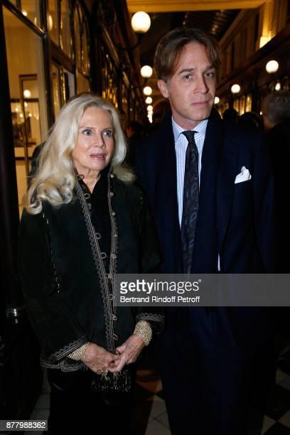 Denise Von Thyssen and her son Alexandre Von Thyssen attend the Ligne Blanche Boutique Opening at Galerie VeroDodat on November 23 2017 in Paris...