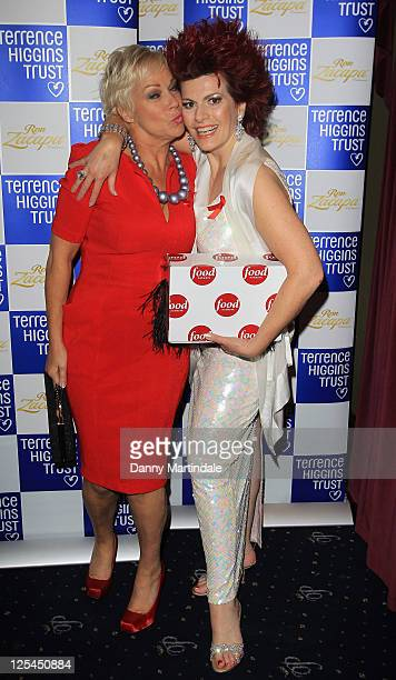 Denise Welch and Cleo Roccos attend the Terrence Higgins Trust's The Supper Club at Cafe de Paris on November 2 2010 in London England