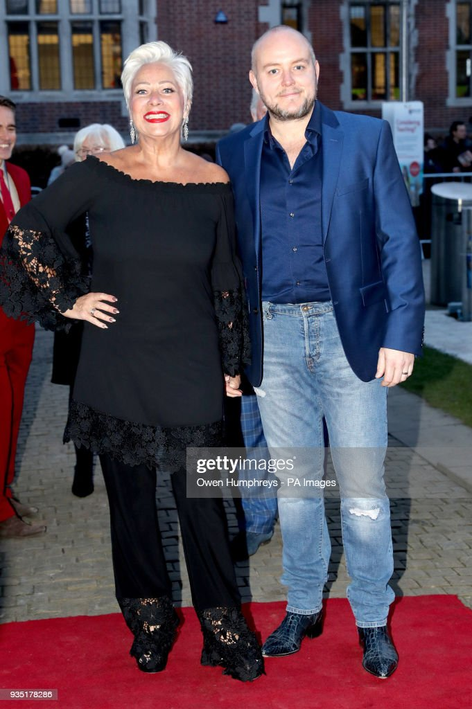Denise Welch And Her Husband Lincoln Townley Arrive For The Gala Performance Of Last Ship